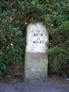 Milestone 11 on the route to Bath from Hambrook