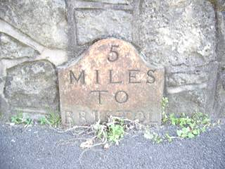 Milestone 5 on the route to Bristol from Corston