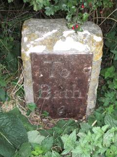 Milestone 6 on the route to Bath from Farrington Gurney
