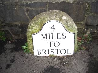 Milestone 4 on the route to Bristol from Worle