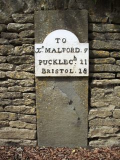 Milestone 18 on the route to Bristol from Christian Malford