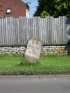 Milestone 9 on the route to Bath from Hambrook