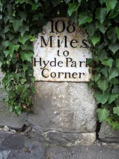 Milestone 0 on the route to Sodbury from Yatton Keynell